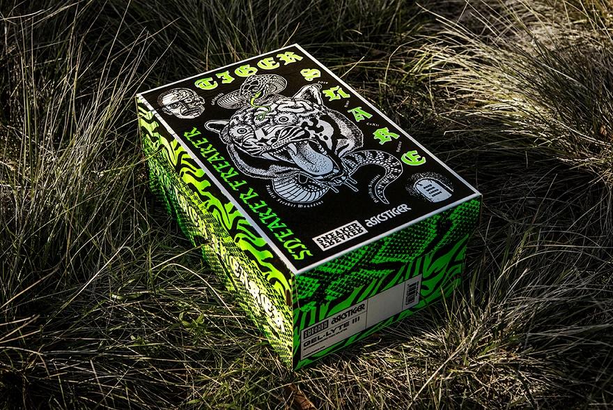 """, Sneaker Freaker x AsicsTiger Gel Lyte III Tiger Snake """"Neurotoxic"""" (Friends & Family)"""
