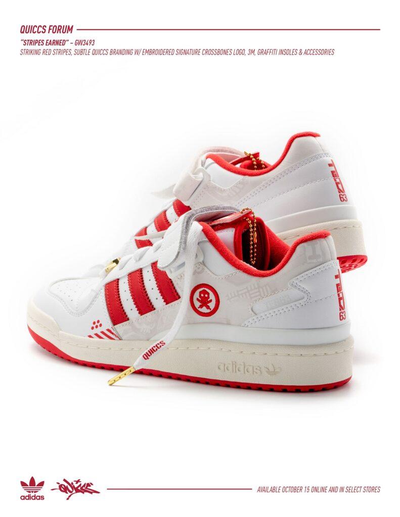 Quiccs x adidas Forum Low, Quiccs x adidas Forum Low 'Stripes Earned'